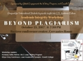 Beyond plagiarism flyer