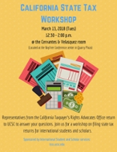 flyer for tax workshop. see information below.