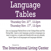 language tables flyer