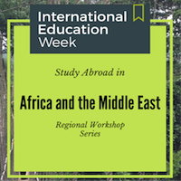 Study Abroad Regional Workshop Africa and the Middle East