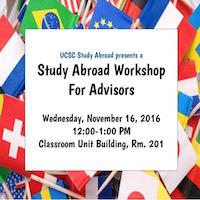 study abroad workshop for advisors flyer