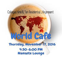 world cafe flyer