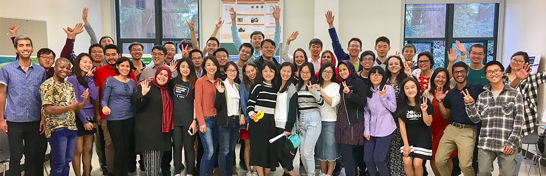 Graduate students smile for a group photo during the 2017 Grad Prep Program